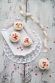 Red Velvet cupcakes with sugar hearts