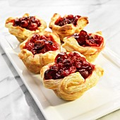 Puff pastry cranberry tartlets