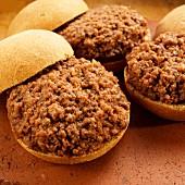 Sloppy Joe (bread rolls topped with minced meat)