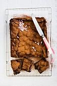 Brownie mit Marshmallows und zweierlei Schokolade