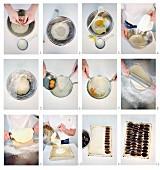 Plum cake being made