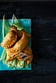 Chicken empanadas (pastry parcels filled with chicken)