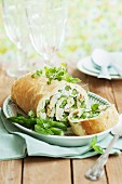 Asparagus and ricotta roulade