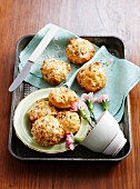 Parmesan muffins with caraway seeds