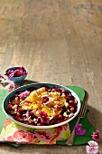 Beetroot salad with orange and feta cheese