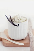 Cottage cheese with vanilla pods