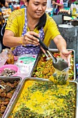 A fast food stall at a market in Bangkok