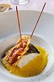 Baccalà in crema di mais (Stockfisch mit Polenta, Italien)