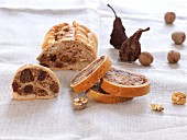 Fruit bread with walnuts
