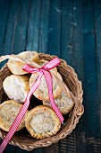 A basket of mince pies