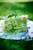 Celery salad with apple and mango