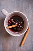Elderberry juice with cinnamon