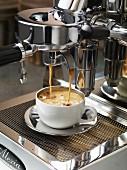 Doppelter Espresso auf der Espressomaschine