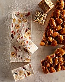 Nougat and almond bars