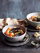 Zuppa di pesce alla Romana (fish soup, Italy)