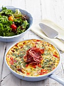 Pepper and ham frittata