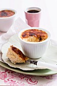Gratinated rice pudding