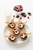 Christmas reindeer tartlets