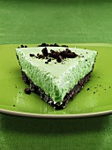 Grasshopper Pie (mint cake with a chocolate biscuit base)