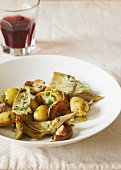 Carciofi e patate (artichokes with potatoes, Italy)