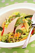 Vietnamese salad with chicken and vegetables