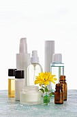 Creams and oils for use in natural cosmetics