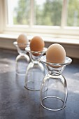Eggs in glass egg cups