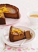 Choc-orange cheesecake