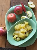 Apple and vanilla compote