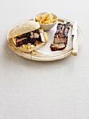 BBQ sparerib sandwich with coleslaw