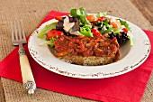 Lasagne with salad (paleo diet)