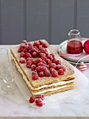 Millefeuille with raspberries (Christmas)