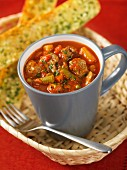Vegetable stew with meatballs (Italy)
