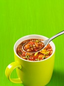 Vegetarian chilli with quinoa