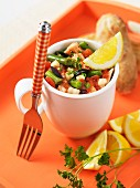 Salad nicoise in a cup