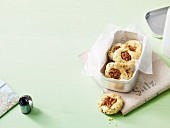 Chive biscuits with walnuts
