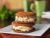 Pumpkin ice cream sandwiches