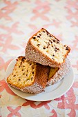 Chiffon cake with chocolate chips