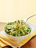 Tagliatelle with peas and rocket