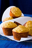 Corn muffins on parchment paper
