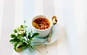 Passionfruit creme brulee