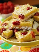Lime and raspberry slices