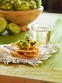 Guacamole auf Tortillachips