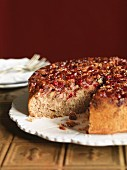 Cranberry and walnut cake