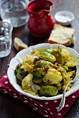 Sicilian style cauliflower and Brussels sprouts
