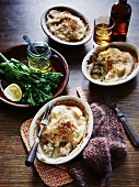 Snapper and cauliflower bake with broccolini