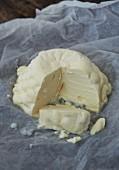 Homemade stracchino (Italian cream cheese)