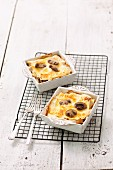 Mini lasagnes with mushrooms and Bechamel sauce