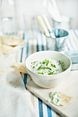 Tzatziki and unleavened bread