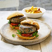 Lamb burgers with mint and spinach